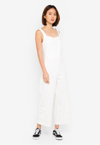 NAIN white Back Slit Jumpsuit D2E21AA91D62F1GS_1