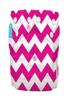 Hot Pink Chevron 2-in-1 cloth baby diaper