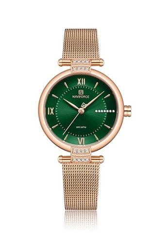 Fashion by Latest Gadget green Naviforce NF5019 Metal Finish Quartz Watch DD5F5AC7D62AC8GS_1