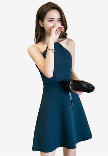 Lara green Back zipper fasten One piece Dress BD7ECAAB0DCF9AGS_1
