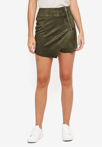 ONLY brown Hayley Faux Suede Skirt B77C4AACA1422FGS_1