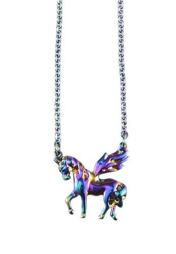 My Flash Trash multi Hologram Unicorn Necklace 02B27ACE919B48GS_1