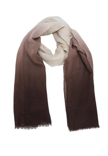 SHOKAY multi Lumi Dip Dye Shawl (Chocolate Brown) SH407AC88AFNHK_1