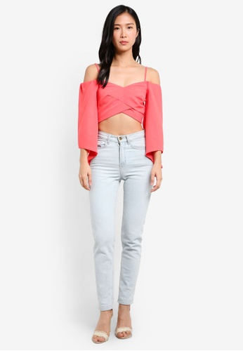 b738b30e7db02 Buy TOPSHOP Angel Sleeve Bardot Top Online on ZALORA Singapore