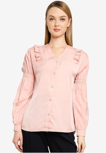 BYN pink Muslimah Long Sleeve Top 87753AA47D9D7DGS_1