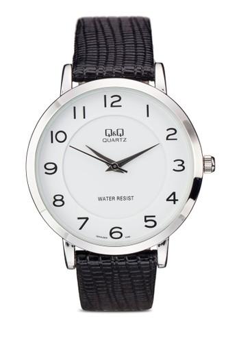 Q&Q Q944J301Y 壓紋仿皮數字esprit 內衣錶, 錶類, 飾品配件