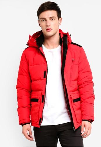 Jack & Jones 紅色 素色羅紋外套 AE2DCAA19B00FAGS_1