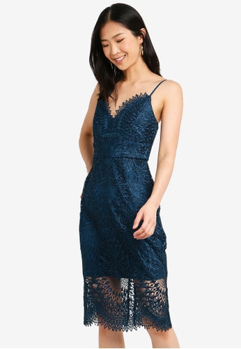 Forever New blue Amelie Lace Pencil Dress 093E1AAA67FE6DGS_1