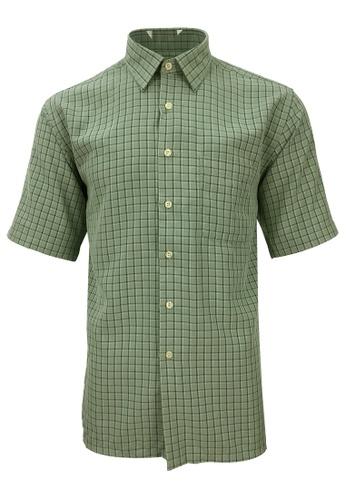 Pacolino green Pacolino - Korea Polynosic Wrinkle Free Checker Formal Casual Short Sleeve Men Shirt 05D57AA769AC5EGS_1