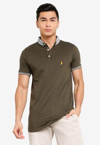 Brave Soul green Jersey Polo Shirt 6D05EAABBFF8DDGS_1