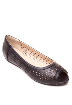 Kate Peep-Toe Flats