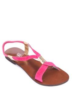 Pink Flat Sandals