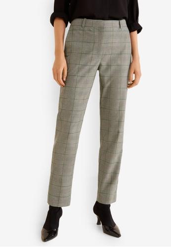 eea012f39bd4 Buy Mango Straight Checkered Trousers Online on ZALORA Singapore