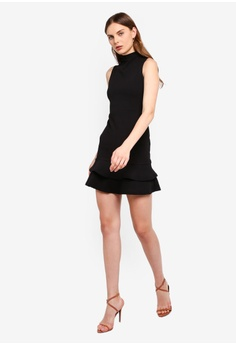 8a38289710 Boohoo Sleeveless Ruffle Hem Bodycon Dress S$ 39.90. Sizes 6 8 10 12 14