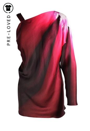 Maria Grachvogel pink Pre-Loved maria grachvogel One Long Sleeve Lava Print Dress 157FFAA96813E6GS_1