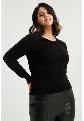 DeFacto black Woman Tricot Pullover 6B462AADA3953FGS_1