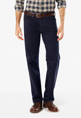 Dockers navy Dockers Standard Jean Cut Straight Fit Pants Pembroke DO282AA0G6Q5SG_1