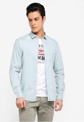 ESPRIT green Woven Long Sleeve Shirt ADE6EAADCDDFCDGS_1
