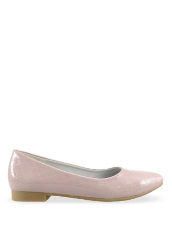 Footspot pink FOOTSPOT - Casual Sqare Toe Flats FO296SH2V7YGHK_1
