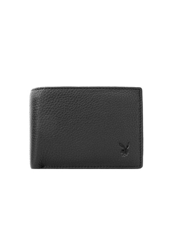 Playboy black Faux Leather Rfid Blocking Wallet 152BEAC4E66AA7GS_1