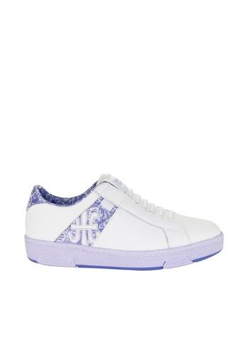 Royal Elastics 白色 and 紫色 Icon Z 皮質休閒鞋 RO796SH099JRTW_1