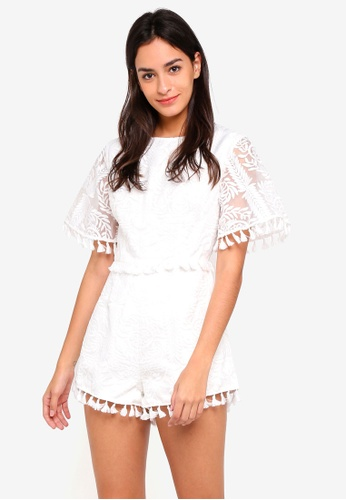Finders Keepers white Spectrum Playsuit 3D12DAA3A83E17GS_1