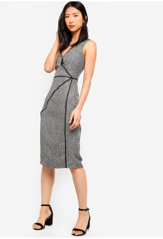 aed90a53471 20% OFF ZALORA BASICS Basic Faggoting Details Shift Dress S  49.90 NOW S   39.90 Sizes XS S M L XL