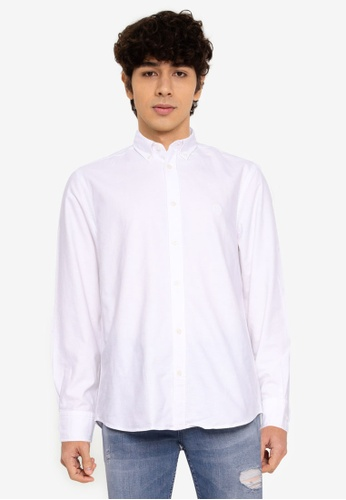 Aeropostale white Plain Oxford Shirt 89F18AA597B354GS_1