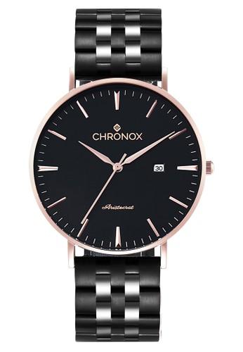 CHRONOX black Chronox CX1002/C1 - Jam Tangan Wanita Casual - Tali Stainless Steel Hitam - Hitam Rose Gold 3EBCCAC2A1403CGS_1