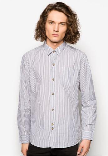 直條紋長袖襯衫,esprit outlet hong kong 服飾, 襯衫