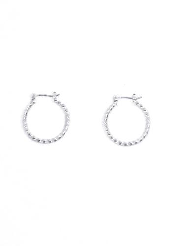 SKEDA silver Mini Braided Hoop Earrings E6F53ACC30588CGS_1