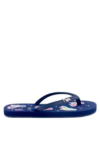 Ripples blue Rolleer Skate Flip Flops 73EE9SH3DE194EGS_1