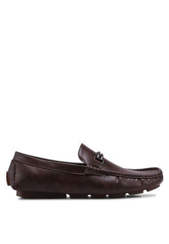 UniqTee brown Loafers with Double Braided Straps 7973ASH39F04AEGS_1