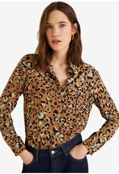 5796a4506d6d Mango brown Leopard Print Shirt 91B42AAF5D0442GS_1