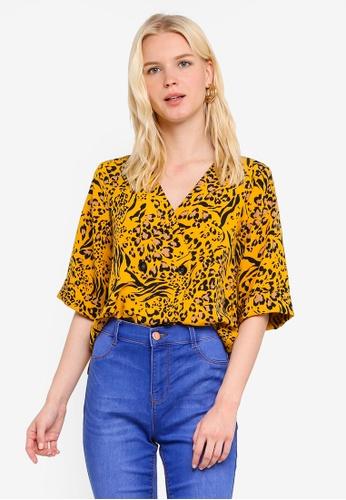 79cc0776 Buy Dorothy Perkins Yellow Animal Print Button Shirt | ZALORA HK