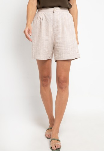 Giordano white Women's Linen Short (Relax Fit) 1F3F1AA3473CFAGS_1
