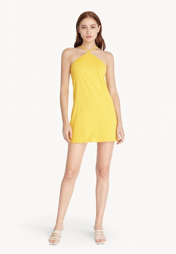 Pomelo yellow Halter Neck Slip Dress - Yellow 5BA91AA34979B8GS_1