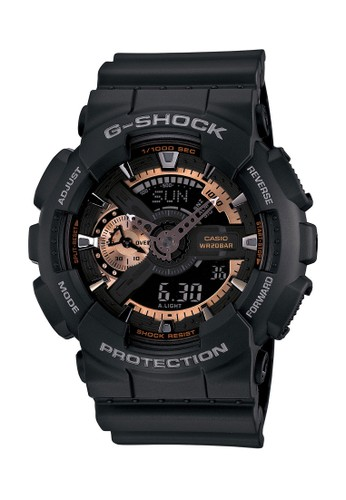G-Shock black Casio G-SHOCK Jam Tangan Pria - Black Rosegold - Resin - GA-110RG-1ADR B33A0AC6C8F2B4GS_1