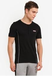 2GO black Grandad Collar T-Shirt 2G729AA0S5ZMMY_1