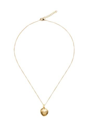 Mango gold Pendant Long Necklace 217B5AC834C2E0GS_1