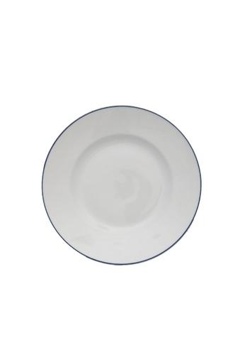 Minh Long I white Blue Line: Porcelain Flat Round Plate (22cm) FAFEBHL7AD0BB1GS_1