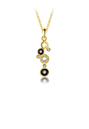 Glamorousky white Fashion Gold Round Pendant with Austrian Element Crystal and Necklace D9BEFAC3E4BF80GS_1