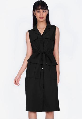 ZALORA BASICS black Sleeveless Utility Dress 4DB43AAEB06E35GS_1