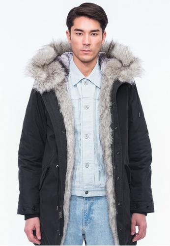 Alpha Style black Aeson Faux Fur Padded Parka AL461AA0GYGNSG_1
