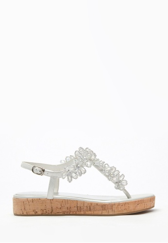 PAZZION silver Stylish Platform Sandals E8DCESH746C0C1GS_1