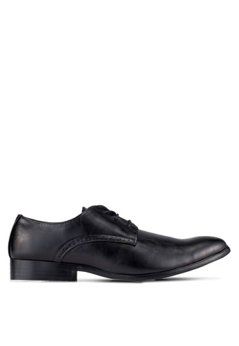 UniqTee black Dress Shoes With Perforated Detail UN097SH0S21OMY_1