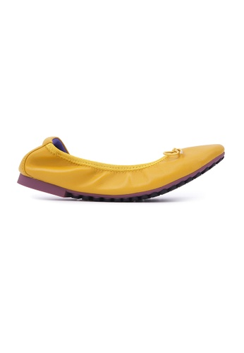Flatss & Heelss by Rad Russel yellow Soft Ribbon Flats - Yellow C38DCSH409F6B0GS_1