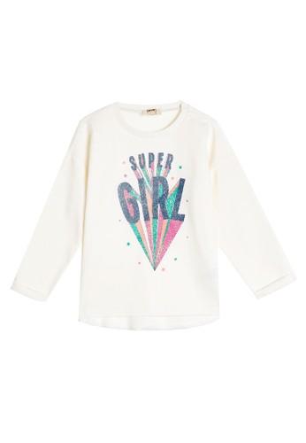 KOTON white Super Girl Sweatshirt 1425BKA9ABAB7DGS_1