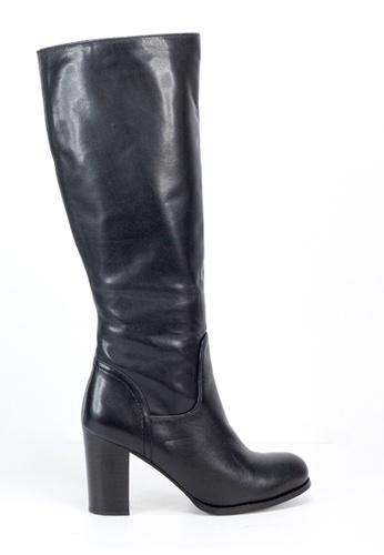 Shu Talk 黑色 簡約黑高跟長靴 SH544SH0ABL4TW_1