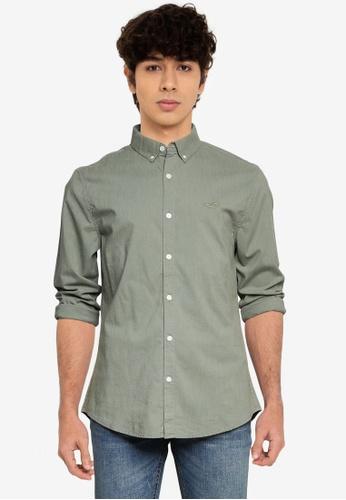 Hollister green Emea Shirt 85330AAFA07FEBGS_1